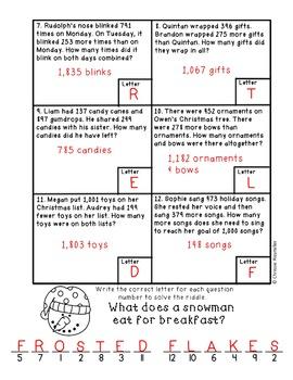Christmas Scavenger Hunt: 2 Part Addition/Subtraction Word Problems