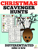 Christmas Scavenger Hunt (Color and B/W)
