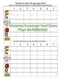 Christmas Scavenger Hunt Game Play As you would Battleship