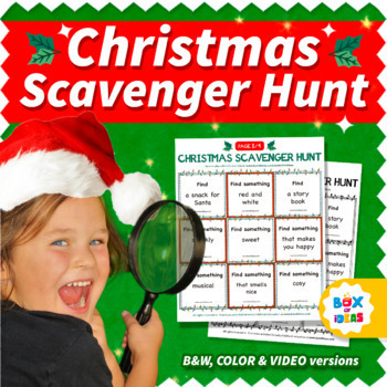 Christmas Scavenger Hunt Game For Distance Learning Virtual Activities On Zoom