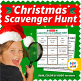 Christmas Scavenger Hunt Game for Distance Learning Virtua