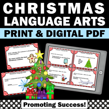 Christmas Scavenger Hunt, Christmas Literacy Center Activities, Language Arts