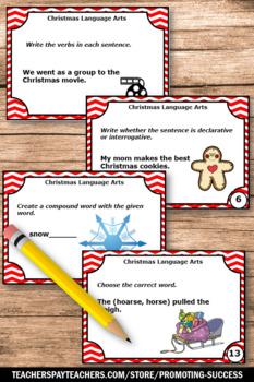 1st & 2nd Grade Christmas Language Arts Activities, Christmas Literacy Centers