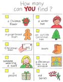 Christmas Scavenger Hunt!  With Original Artwork