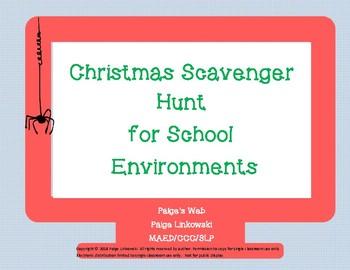 Christmas Scavenger Hunt Clues.Christmas Scavenger Hunt At School By Paige S Web Tpt