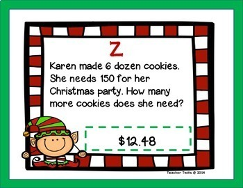 Christmas Scavenger Hunt with Decimal Operations