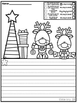 Christmas Scene Writing Pages