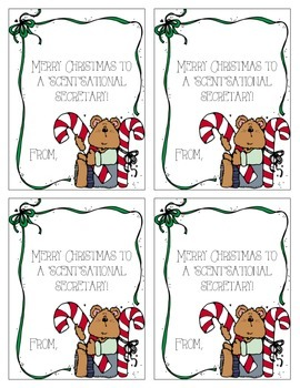 "Christmas ""ScentSational"" Secretary Gift Tags"