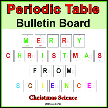 Christmas Science Bulletin Board