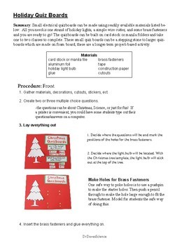 Christmas Science: Electrical Quizboards