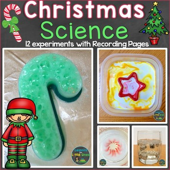 Christmas Science Experiments & Recording Pages (Print & Digital Options)