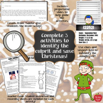 Christmas Holiday Science Mystery Labs/Stations for Upper Elementary and Middle