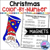 Christmas Science - Magnets - Color-By-Number