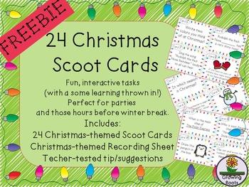 Christmas Scoot FREEBIE