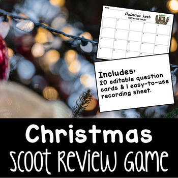 Scoot Template • Christmas Themed