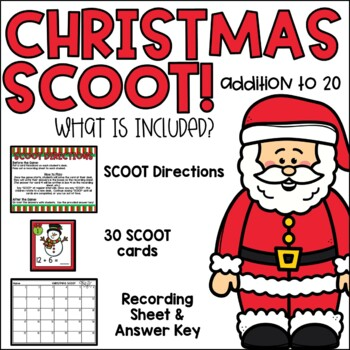 Christmas Scoot {Addition to 20}