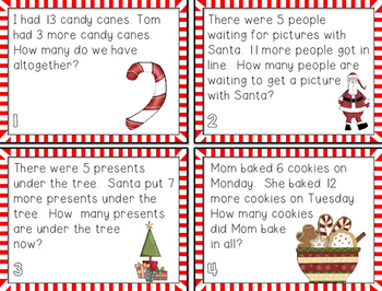 Christmas Scoot {Addition Word Problems}