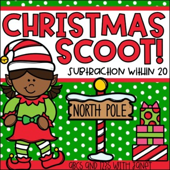 Christmas Scoot {Subtraction from 20}