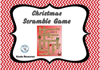 Christmas Scramble Crossword Game
