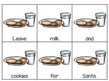 Christmas Scrambled Sentences (Sentence Building)