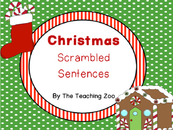 Christmas Scrambled Sentences (Sentence Building)