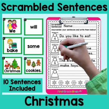 Christmas Scrambled Sentences Center