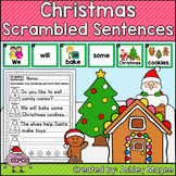 Christmas Scrambled Sentences Center