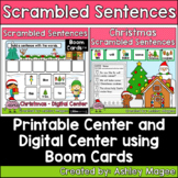 Christmas Scrambled Sentences Center - Printable and Digit