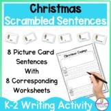 Christmas Scrambled Sentences FUN Building Sentences