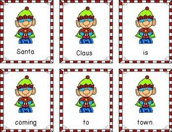 Christmas Scrambled Sentences | Seasonal Literacy Centers