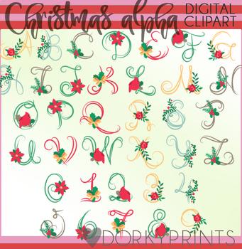 Christmas Script Font Clipart