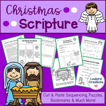 Christmas Scripture Activities for the Christian/Catholic Classroom