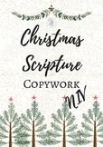 Christmas Scripture Copywork- NIV