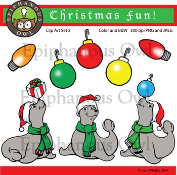 Christmas Seals Fun Clip Art Set 2