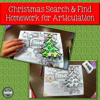 Christmas Search & Find Articulation Homework
