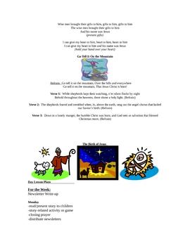 Christmas Season 4K Bible Lessons-4 weeks
