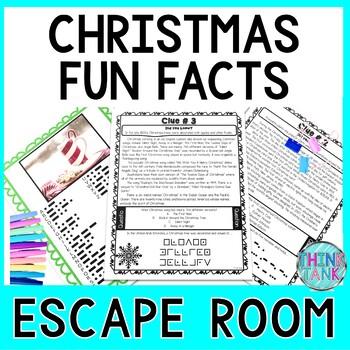Christmas Fun Facts ESCAPE ROOM - December