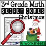Christmas Secret Code Math Worksheets 3rd Grade Common Core