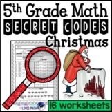 Christmas Secret Code Math Worksheets 5th Grade Common Core