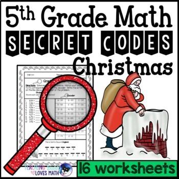 christmas secret code math worksheets th grade common core  tpt