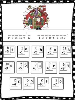 Christmas Secret Math Codes Pack