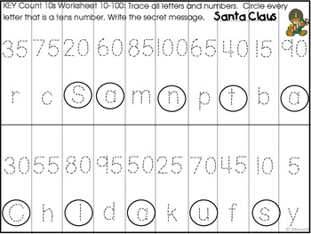 Christmas Number Letter Secret Puzzle Messages