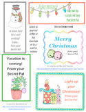 Christmas Secret Pal Treat Tags