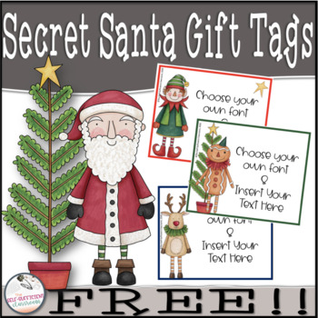 It's just an image of Gorgeous Secret Santa Gift Tags Printable Free
