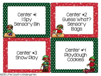 Christmas Sensory Centers