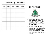 Christmas Sensory Writing/Common Core Writing