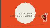 Christmas Sentence Auction: English Grammar