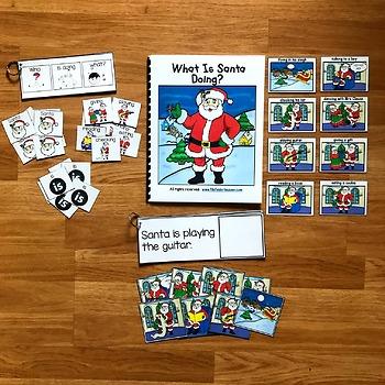 "Christmas Sentence Builder Book:  ""What is Santa Doing?"""