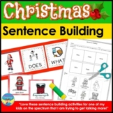 Christmas Sentence Building Picture Activities