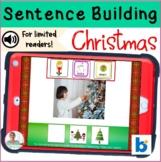 Christmas Sentence Building BOOM Cards No Prep No Print Activity